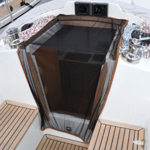 Mosquito net for the companionway