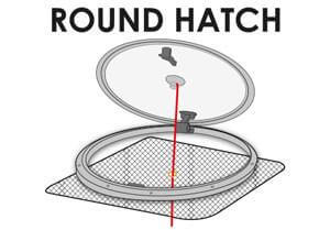 Net on round hatches